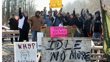 Idle No More CN Railway Block Solidarity