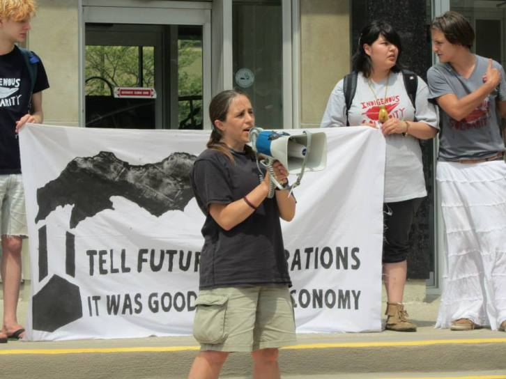 March from City Hall to Bitumen Conference