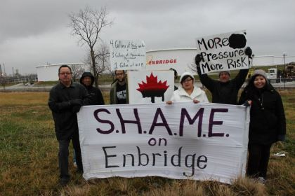 Enbridge Banner Drop